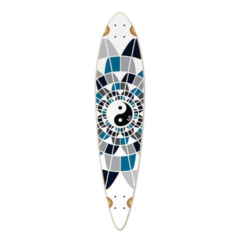 "Punked Pintail Ying Yang 40"" Longboard Deck - Longboards USA"