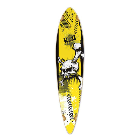Punked Pintail YSkull Longboard Deck - Longboards USA