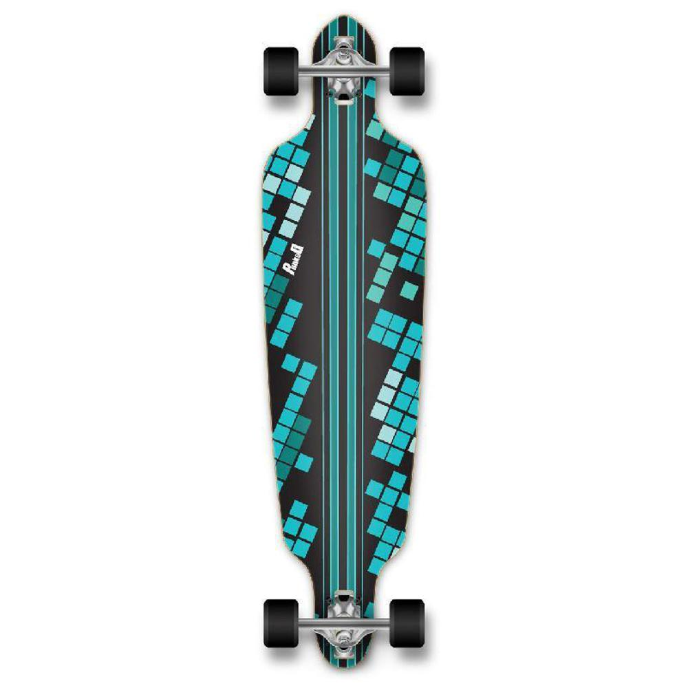 Punked Punked Drop Through Black Digital Wave Longboard Complete - Longboards USA