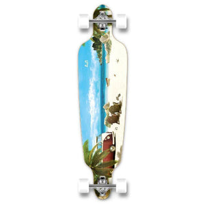 Punked Punked Drop Through Getaway Longboard Complete - Longboards USA