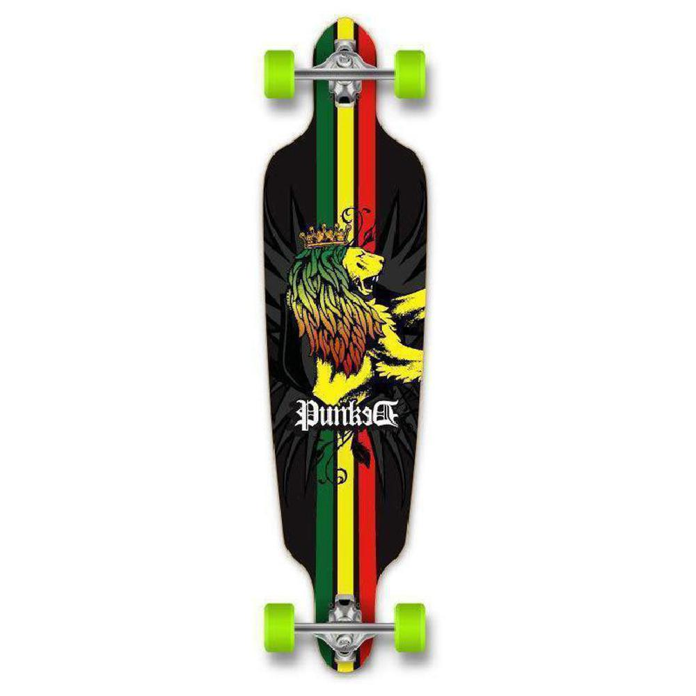 Punked Rasta Drop Through Longboard 40 inches - Longboards USA