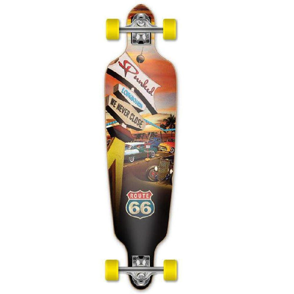 "Punked Route 66 Series - Diner Drop Through 41"" Longboard - Longboards USA"