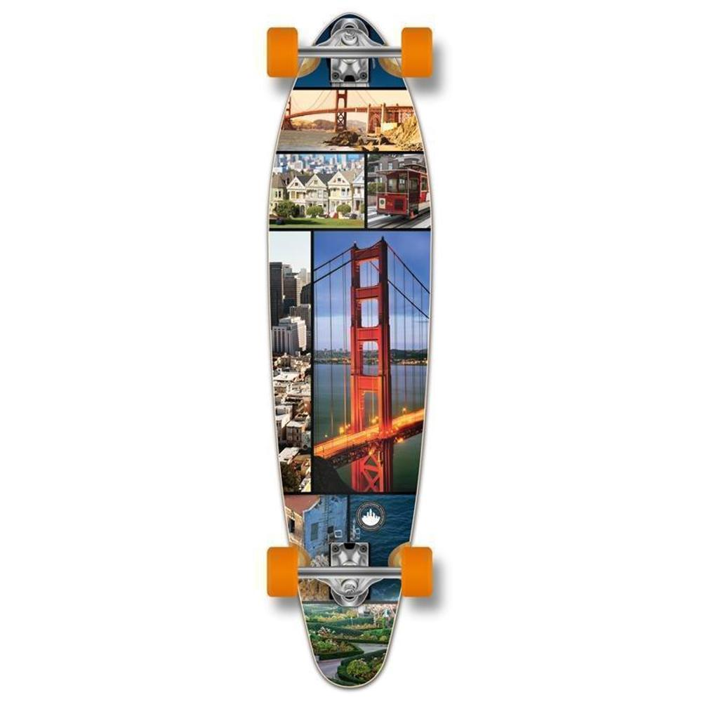Punked San Francisco Kicktail 40 inches Longboard - Longboards USA
