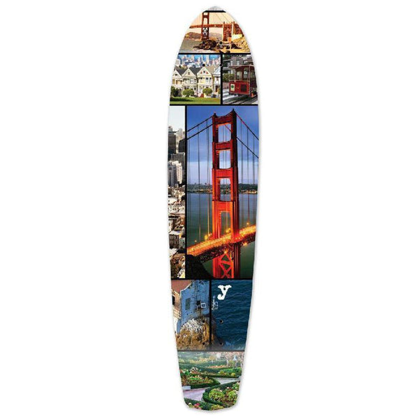 Punked San Francisco Slimkick Longboard Deck - Longboards USA