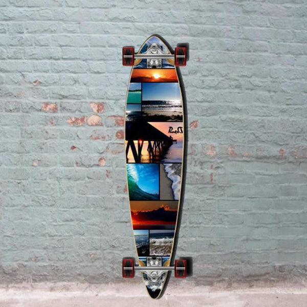 Punked Seaside Pintail Longboard 40 inch - Complete - Longboards USA