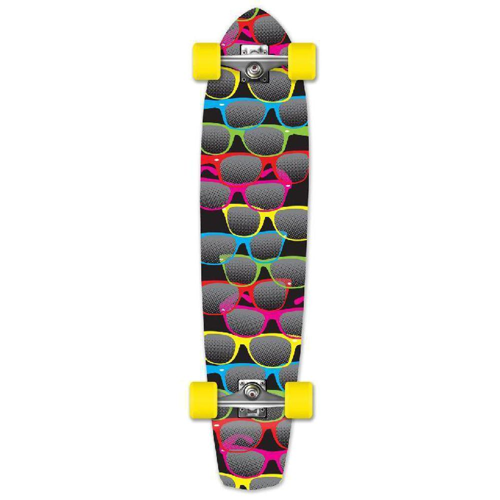 Punked Shades Black Slimkick Longboard - Longboards USA