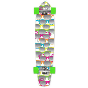 Punked Shades White Slimkick Longboard - Longboards USA