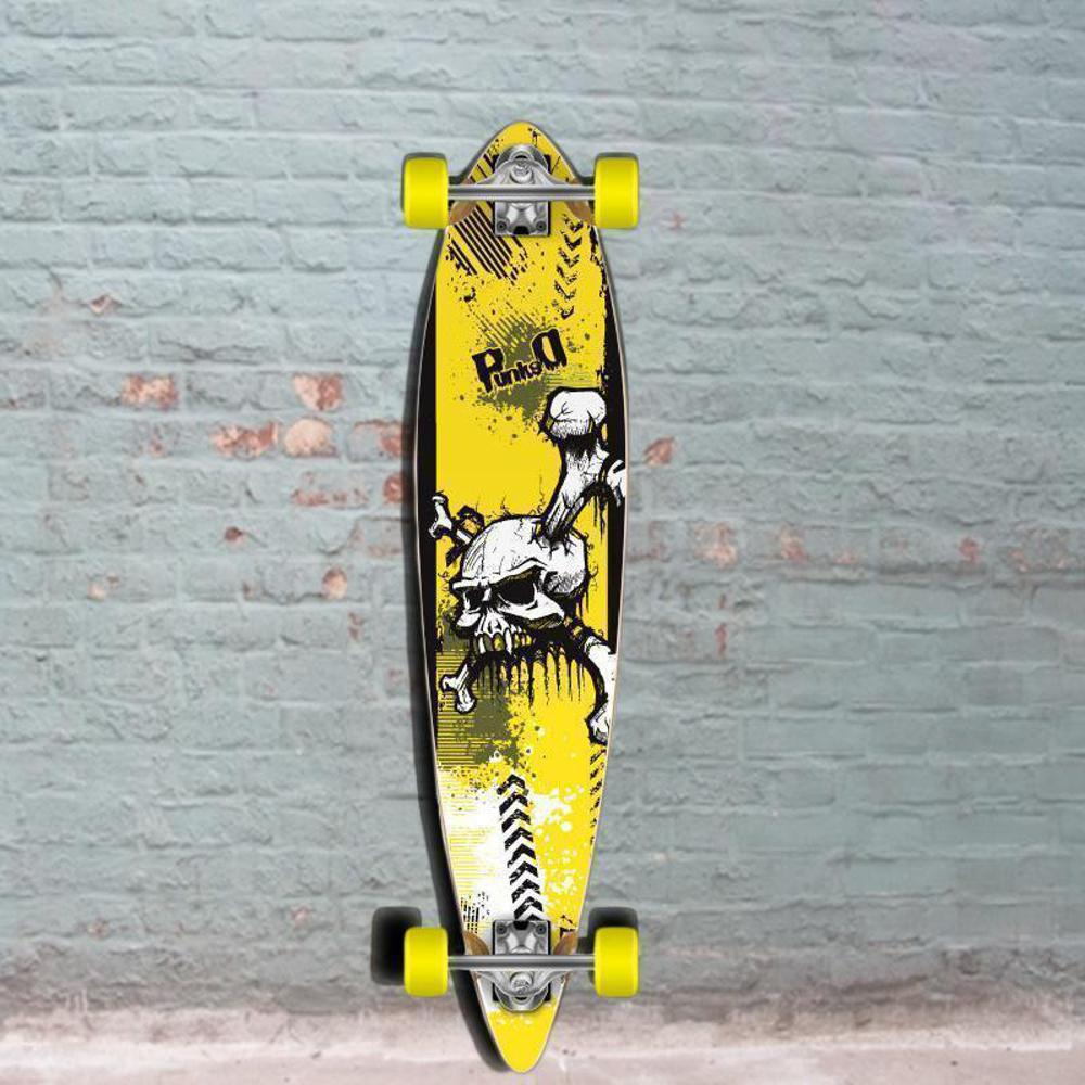 Punked Skull Pintail Longboard 40 inch - Complete - Longboards USA