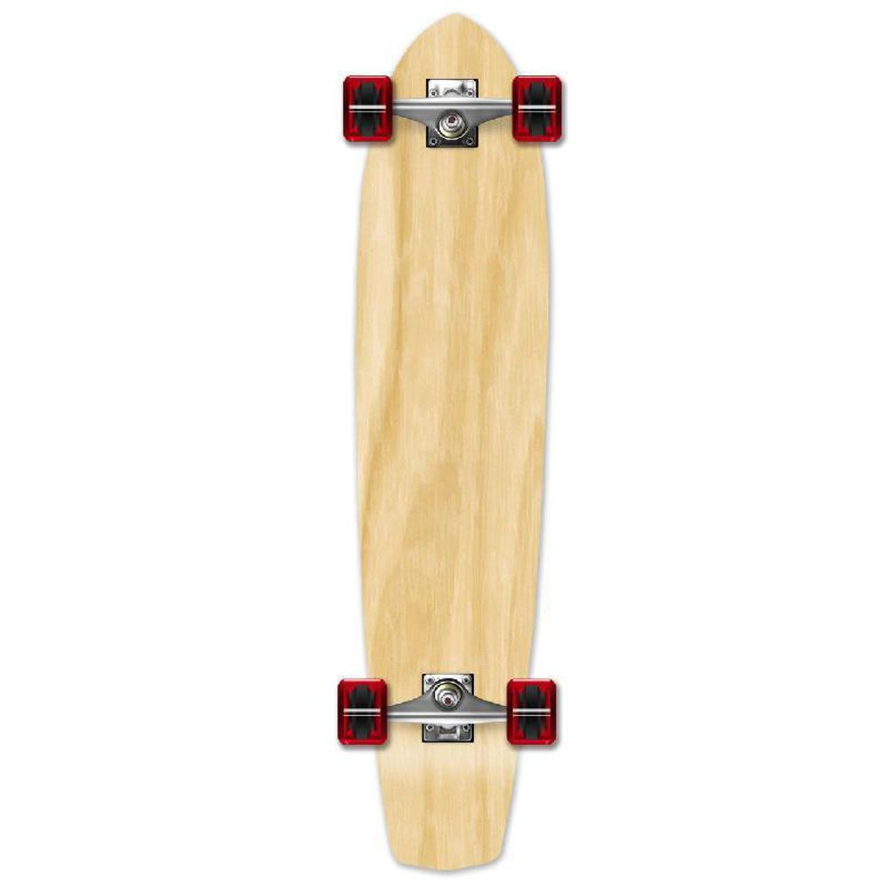 Punked Slimkick Blank Longboard Complete - Natural - Longboards USA