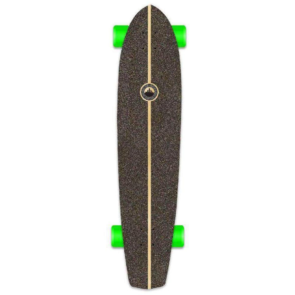 Punked Slimkick Blank Longboard Complete - Stained Black - Longboards USA