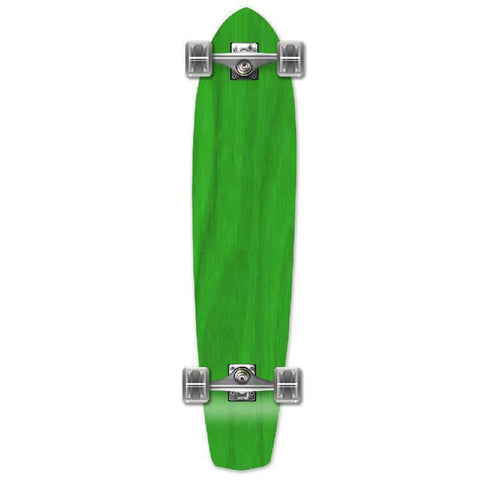Punked Slimkick Blank Longboard Complete - Stained Green - Longboards USA