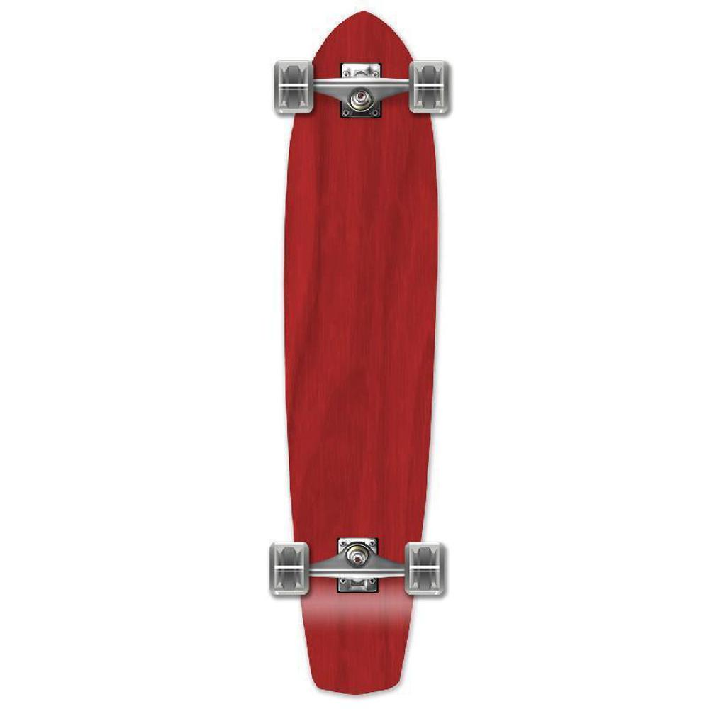 Punked Slimkick Blank Longboard Complete - Stained Red - Longboards USA