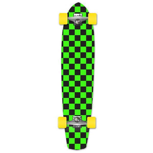 Punked Slimkick Longboard Complete - Checker Green - Longboards USA