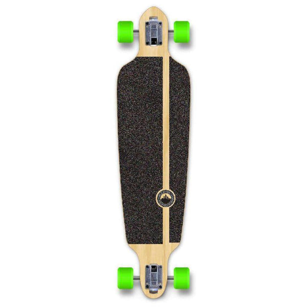 Punked Stained Black Drop Through Blank Longboard - Longboards USA