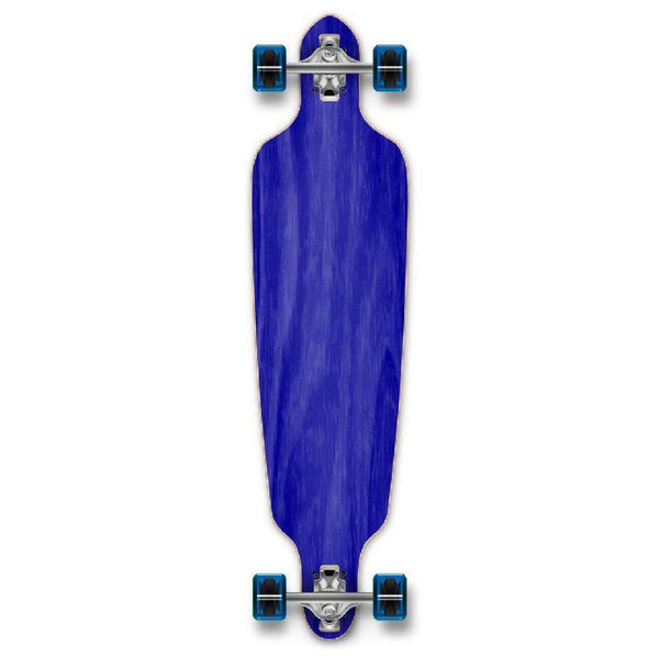 Punked Stained Blue Drop Through Blank Longboard - Longboards USA