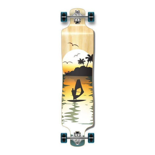 Punked Surfer Natural Lowrider Double Drop Longboard - Longboards USA