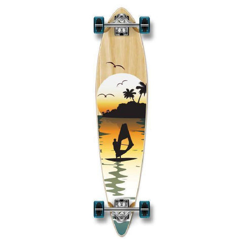 "Punked Surfer Pintail Longboard 40"" Natural - Longboards USA"