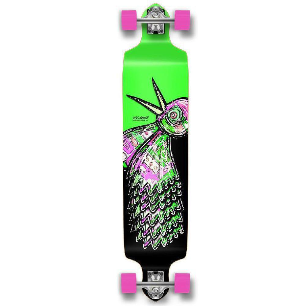 Punked The Bird Green Drop Down Downhill Longboard - Longboards USA