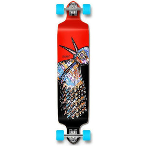 Punked The Bird Red Drop Down Downhill Longboard - Longboards USA