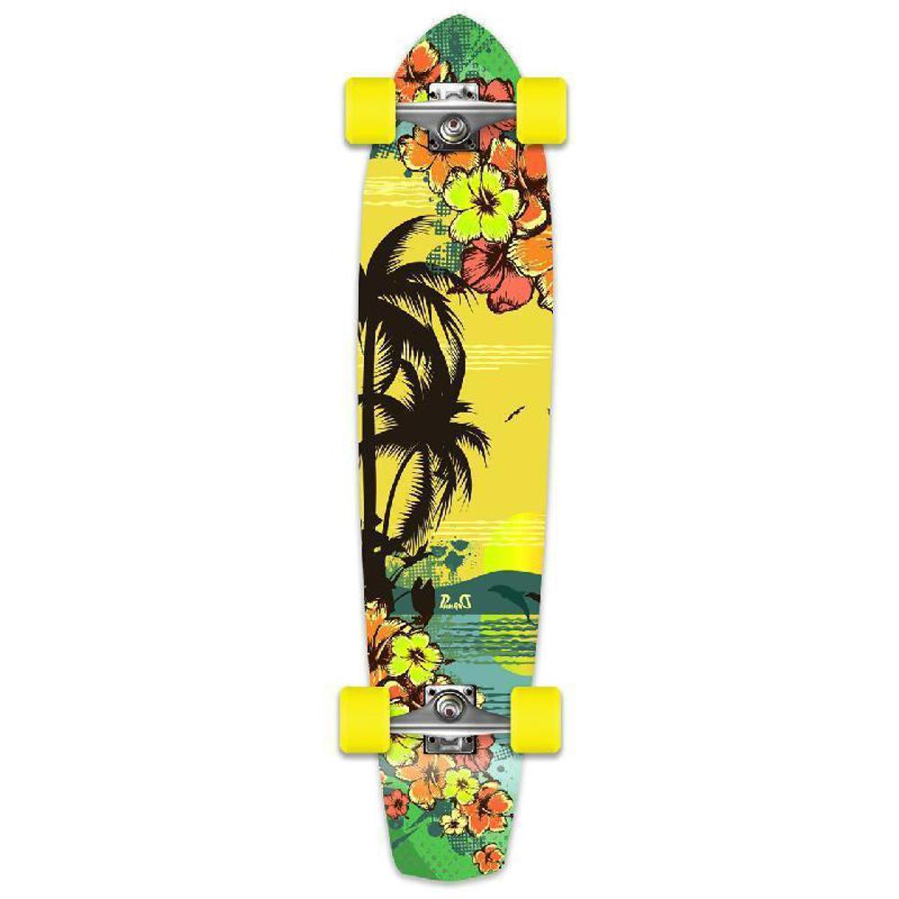Punked Tropical Day Slimkick Longboard - Longboards USA