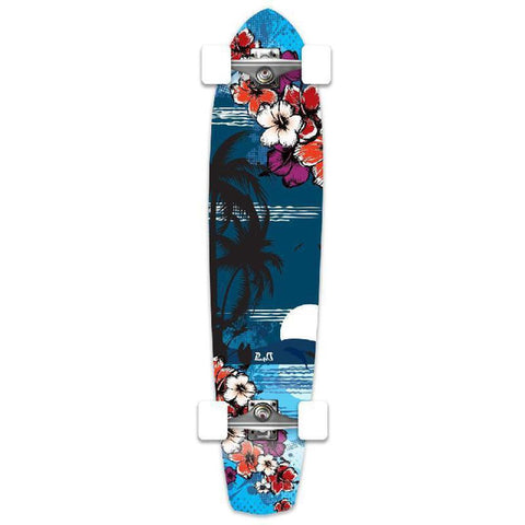 Punked Tropical Night Slimkick Longboard - Longboards USA