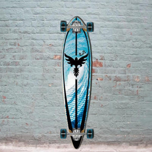 "Punked Tsunami 40"" Pintail beach Longboard - Longboards USA"