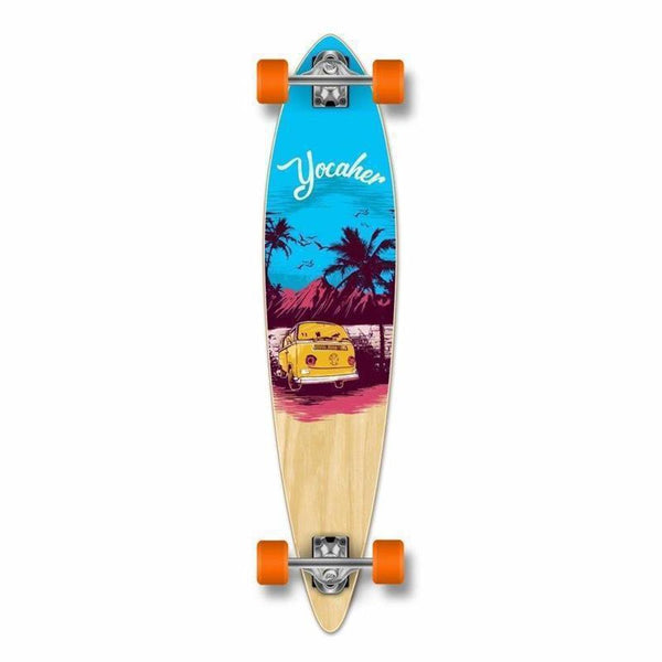 "Punked VW Blue N' Red Pintail 40"" Longboard - Longboards USA"