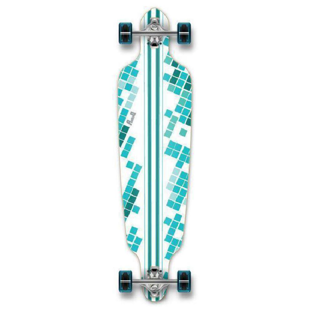 "Punked White Digital Wave Drop Through 40"" Longboard - Longboards USA"