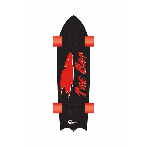 QUEST BAT BLACK 35 - Longboards USA