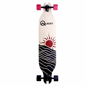 Quest Red Sun 40 Skateboard - Longboards USA