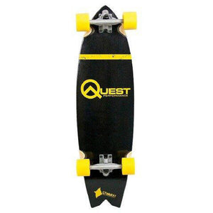 Quest Stingray Cruiser Board, 34.5″ Complete Skateboard Gold - Longboards USA