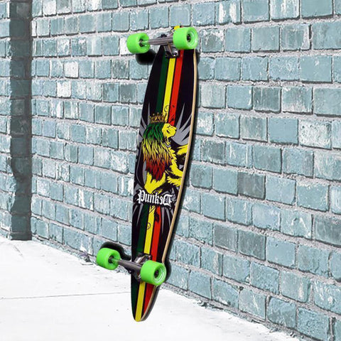 Rasta Pintail Longboard 40 inch from Punked - Complete - Longboards USA