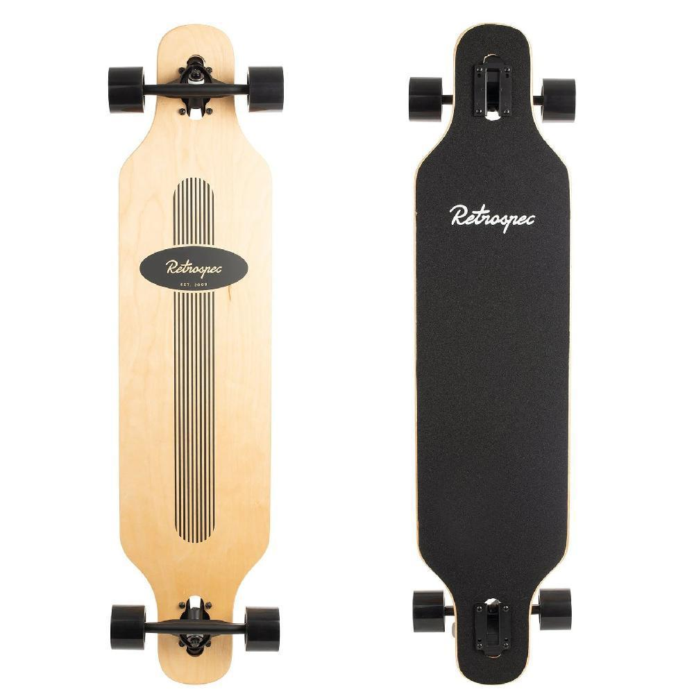 "Rift Black Pinstripe Drop Through 41"" Longboard - Longboards USA"