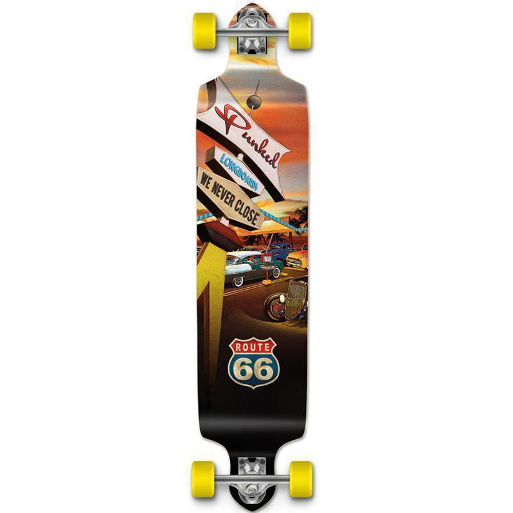 "Route 66 Punked Diner Drop Down Longboard 41"" - Longboards USA"
