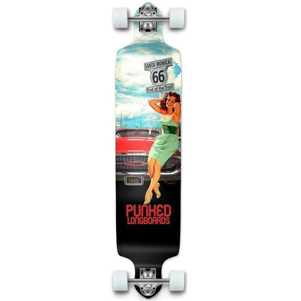 "Route 66 Punked Getaway Drop Down Longboard 41"" - Longboards USA"