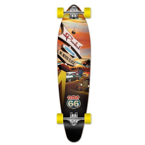 "Route 66 Punked Kicktail Longboard 40"" Diner - Longboards USA"