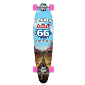 "Route 66 Punked Kicktail Longboard 40"" The Run - Longboards USA"