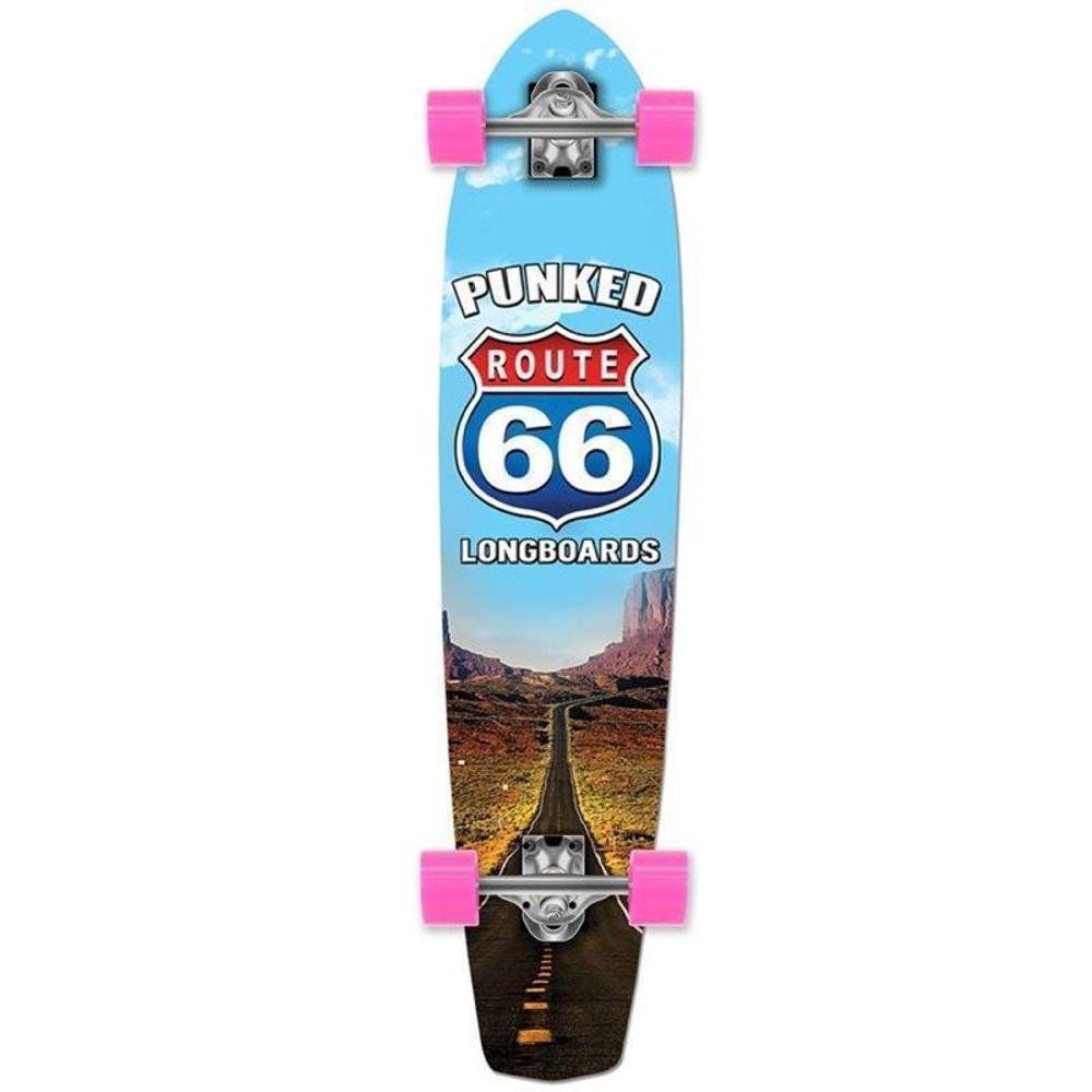"Route 66 The Run 36"" Slimkick Longboard from Punked - Complete - Longboards USA"