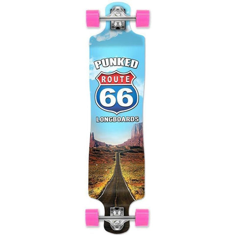 Route 66 The Run Lowrider Double Drop Longboard from Punked - Longboards USA