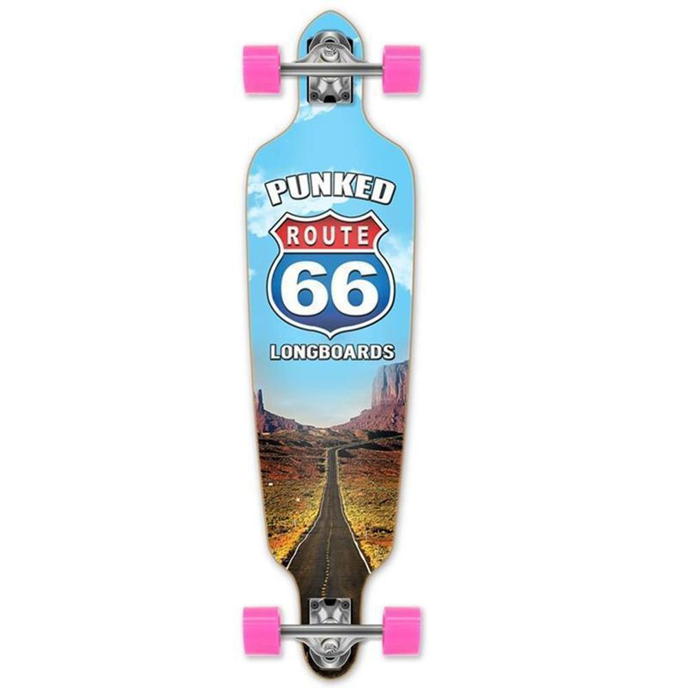 "Route 66 The Run Punked Drop Through 40"" Longboard - Longboards USA"