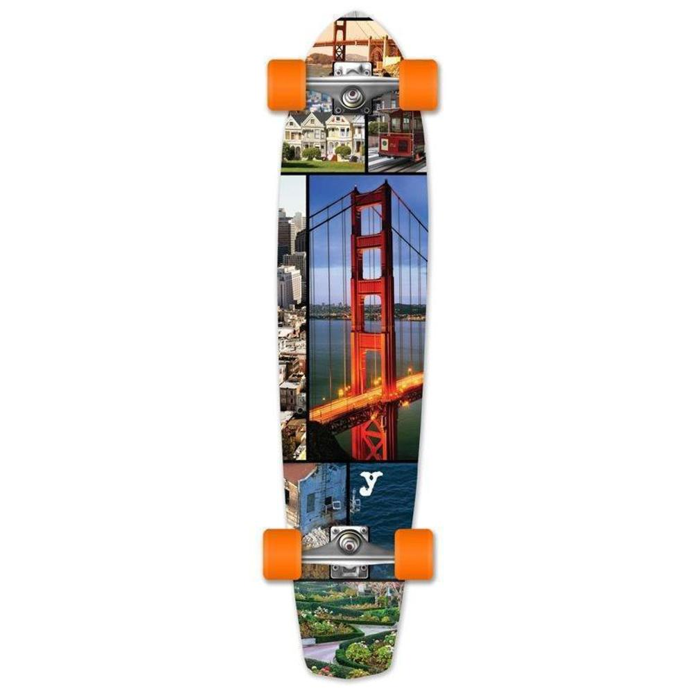 "San Franciso 36"" Slimkick Longboard from Punked - Complete - Longboards USA"