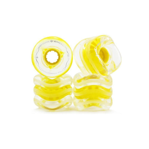 Shark Wheels Clear With Yellow Hub California Roll 60mm 78a - Longboards USA