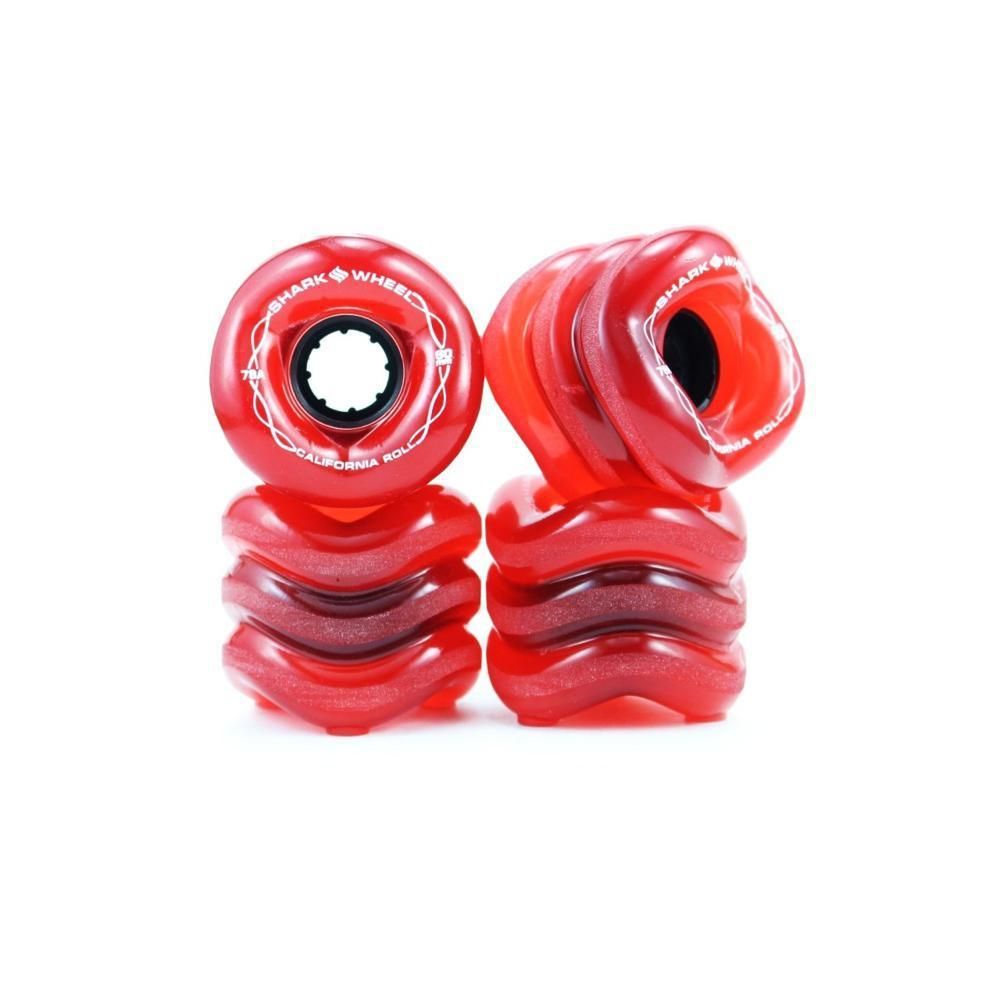 Shark Wheels Transparent Red California Roll 60mm 78a - Longboards USA