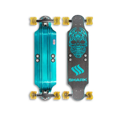 "Shiver Shark Aluminum 32"" Drop Down Longboard - Longboards USA"
