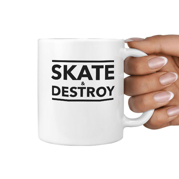 Skate & Destroy - Coffee Mug Gift for Skateboarder - Longboards USA