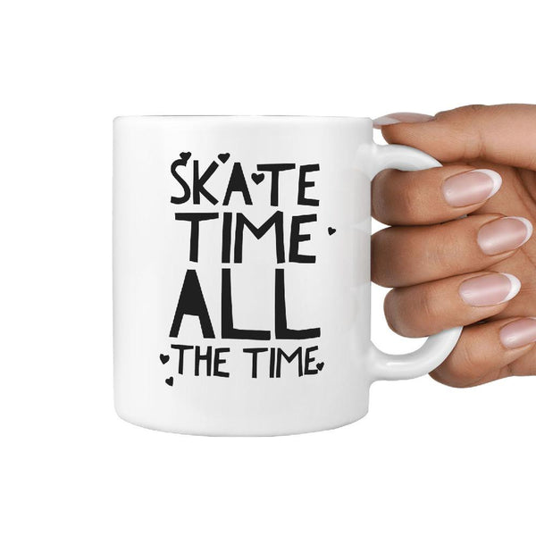 Skate Time all the Time - Coffee Mug Skateboarder - Longboards USA