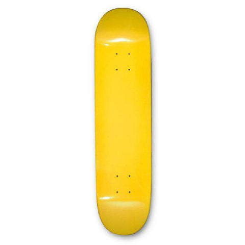 "Skateboard Deck - Blank Dipped Deck - 31"" - Yellow - Longboards USA"