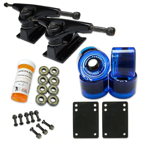 Skateboard Starter Combo Kit - With 62mm Wheels - Longboards USA