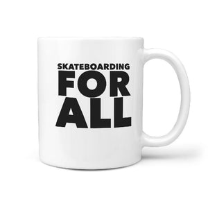 Skateboarding For All - Coffee Tea Mug - Longboards USA