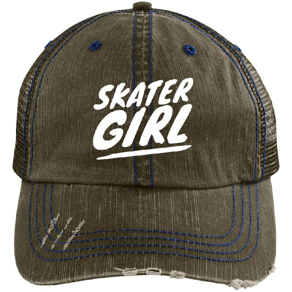 Skater Girl Distressed Cap - Longboards USA